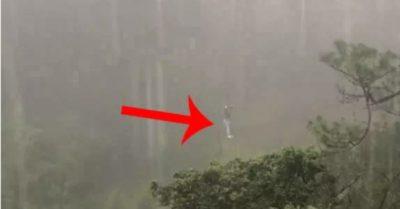 Video: Chơi zipline ở Đà Lạt, một người bị kẹt treo lơ lửng giữa rừng khi trời đang mưa tầm tã